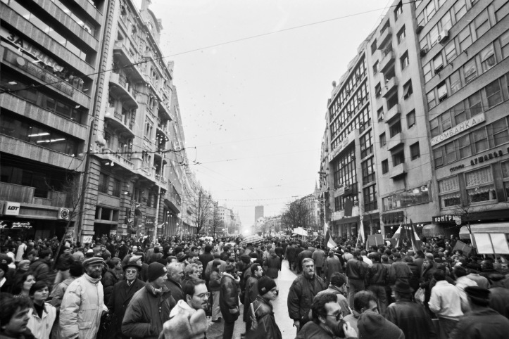 1996-12-24 belgrade counter protest